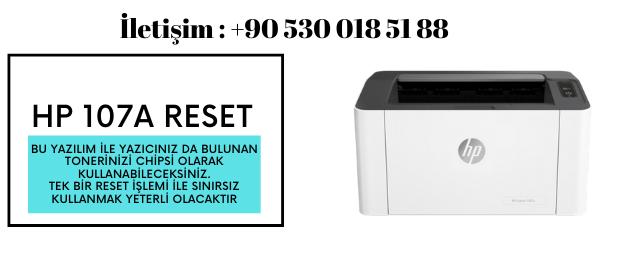 HP 107A RESET