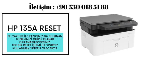 HP 135A RESET