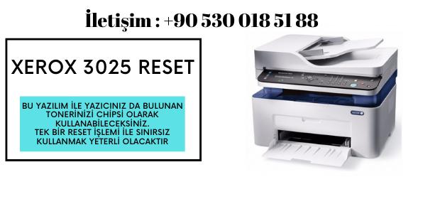 Xerox 3025 Yazıcı Resetleme