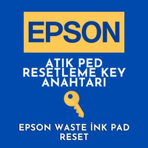 Epson Atık Mürekkep Pedi Resetleme Key Anahtarı